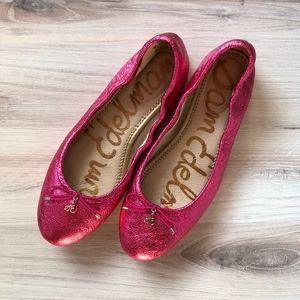 Sam Edelman Felicia Ballet Flat Pink Crinkle